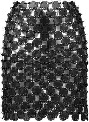 Paco Rabanne chainmail mini skirt