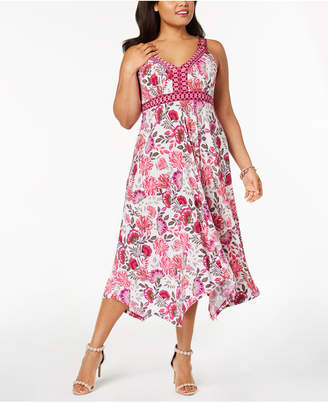 INC International Concepts I.N.C. Plus Size Ring-Detail Maxi Dress, Created for Macy's