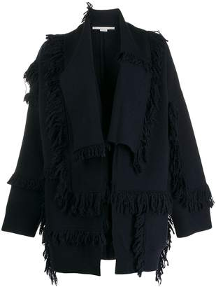 Stella McCartney shaggy-knit layered cardigan