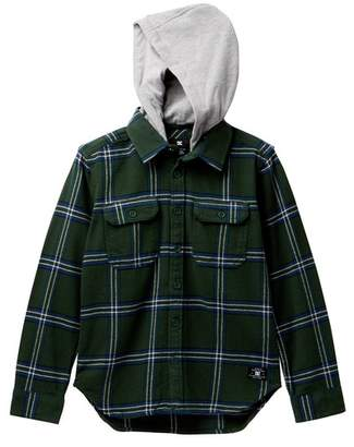 DC Runnels Long Sleeve Hooded Flannel Shirt (Big Boys)