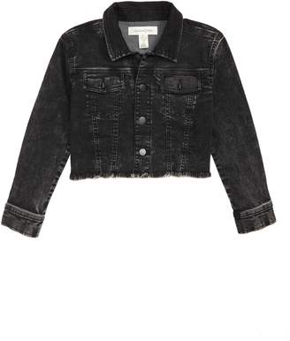 Treasure & Bond Crop Acid Wash Denim Jacket