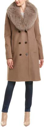 Elie Tahari Trystan Wool-Blend Coat