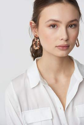 Na Kd Accessories Colourful Resin Earrings Brown combo