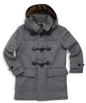 Burberry Little Boy's& Boy's Hooded Wool Duffle Coat