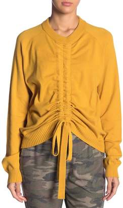 Mustard Seed Tie Front Drawstring Sweater