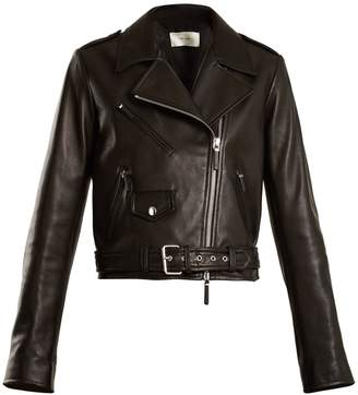 The Row Perlin leather biker jacket