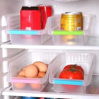 Obstce Storage Collecting Box Basket Kitchen Refrigerator Fruit Organiser Rack Utility Box