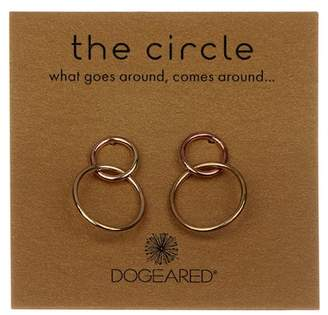 Dogeared 'The Circle' Double Ring Drop Earrings