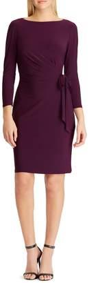 Chaps Side-Twist Mini Jersey Dress