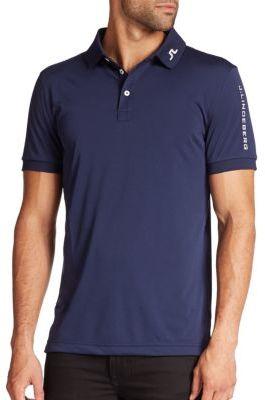 J. Lindeberg Golf Tour Tech Logo Polo $65 thestylecure.com