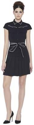 Alice + Olivia Yoko Pleated Shirt Dress