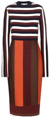 Victoria Beckham Striped wool-blend dress