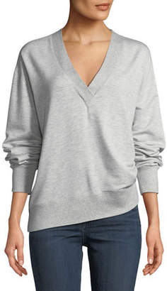 Rag & Bone Flora V-Neck Long-Sleeve Pullover