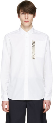 OAMC White Snake Patch Shirt $395 thestylecure.com