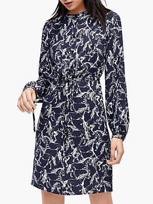 Warehouse Horse Print Shirt Dress, Multi