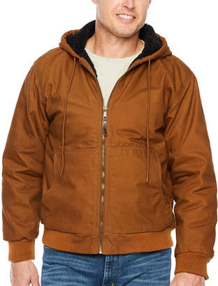 Smith Workwear Smith Sherpa Lined Duck Hooded Bomber Jacket
