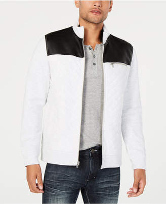 INC International Concepts I.n.c. Men's Buster Faux Leather Colorblocked Jacket