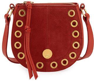 See by Chloe Kriss Mini Grommet Suede Saddle Shoulder Bag