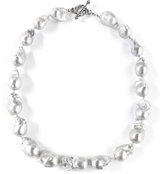 Exclusively Leslie Baroque Gray-Pearl Necklace