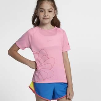Nike Older Kids'(Girls') Short-Sleeve Graphic Running Top