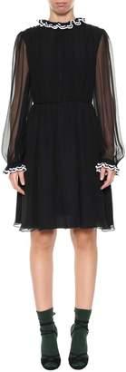 MSGM Chiffon Midi Dress