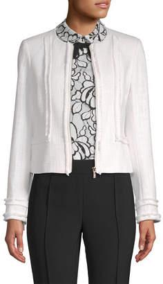 Karl Lagerfeld Fringe Crop Jacket