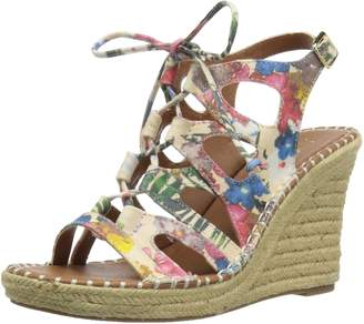 Sugar Women's Espadrille Wedge Sandal with Lace-Up Ghillie