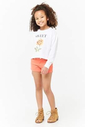 Forever 21 Girls Sweet Graphic Sweatshirt (Kids)