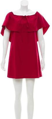 Alice + Olivia Scoop Neck Mini Dress