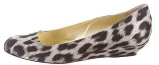 Stella McCartney Leopard Print Wedge Pumps