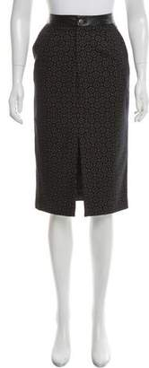 Timo Weiland Leather-Trimmed Wool Skirt