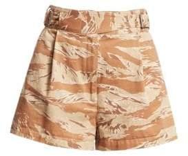 Rachel Comey Camo Cotton Roam High-Rise Shorts