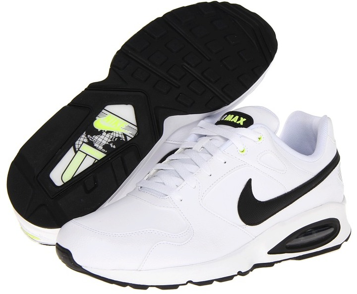 Nike Coliseum Racer - Leather (White/Cyber/Black) Men's Running Shoes