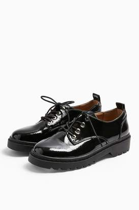 Topshop FURNACE Black Patent Shoes
