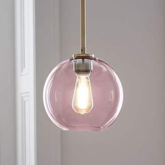 west elm Sculptural Glass Globe Pendant - Small (Dusty Blush)
