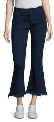 Marques Almeida Frayed Cropped Flared Jeans