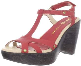 Jambu Women's Marble T-Strap Wedge