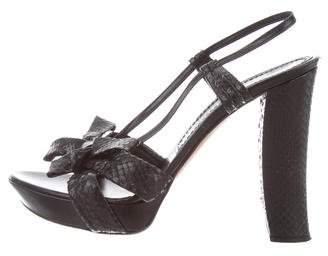 Viktor & Rolf Snakeskin Slingback Sandals