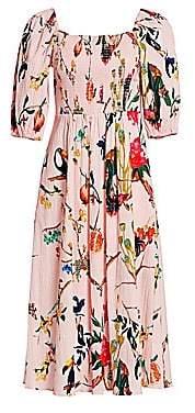 Tanya Taylor Women's Lucinda Off-The-Shoulder Floral Dress