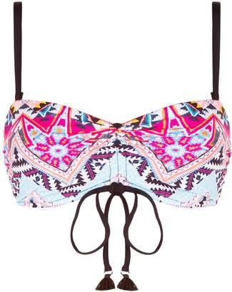 Seafolly Aztec Patterned Bandeau Bikini Top