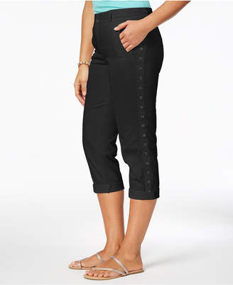 Style&Co. Style & Co Grommet-Trim Capri Pants, Created for Macy's