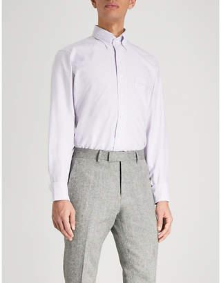 Drakes Easyday striped cotton Oxford shirt