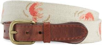 Vineyard Vines x Smathers & Branson Lobster Roll Needlepoint Belt