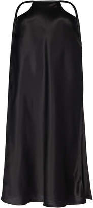 Michael Lo Sordo Reveal Silk-Satin Cutout Skirt Size: 4