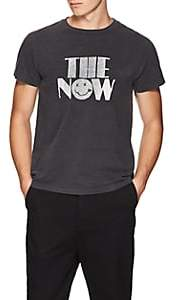 "Remi Relief Men's ""The Now"" Distressed Cotton T-Shirt - Black"