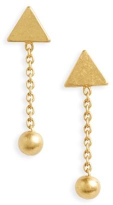 Women's Madewell Geometric Drop Earrings $18 thestylecure.com