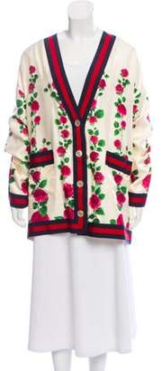 Gucci 2018 Silk Floral Cardigan w/ Tags multicolor 2018 Silk Floral Cardigan w/ Tags