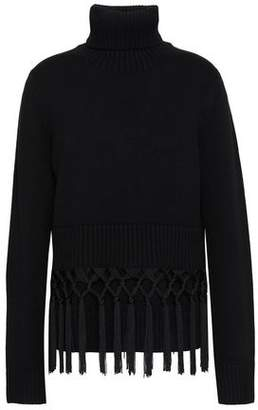 Michael Kors Tassel-trimmed Cashmere Turtleneck Sweater