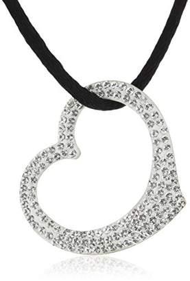 Crystelle Women's Necklace 333 Yellow Gold 42–47 CM Swarovski Crystal White 500341021