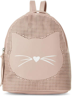 T-Shirt & Jeans T Shirt & Jeans Blush Perforated Cat Backpack